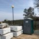portable hire loo in building site